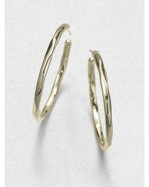 Ippolita   Metallic Glamazon 18k Yellow Gold #3 Hoop Earrings/1.65   Lyst