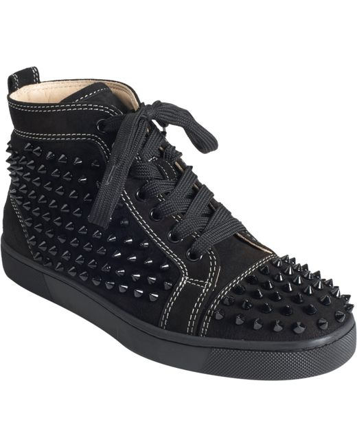 Christian Louboutin | Black Louis Spikes | Lyst