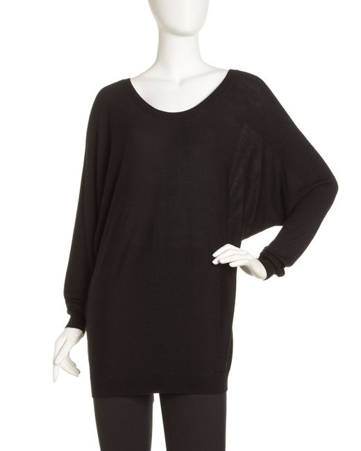 Vince | Black Slouchy V-back Sweater | Lyst