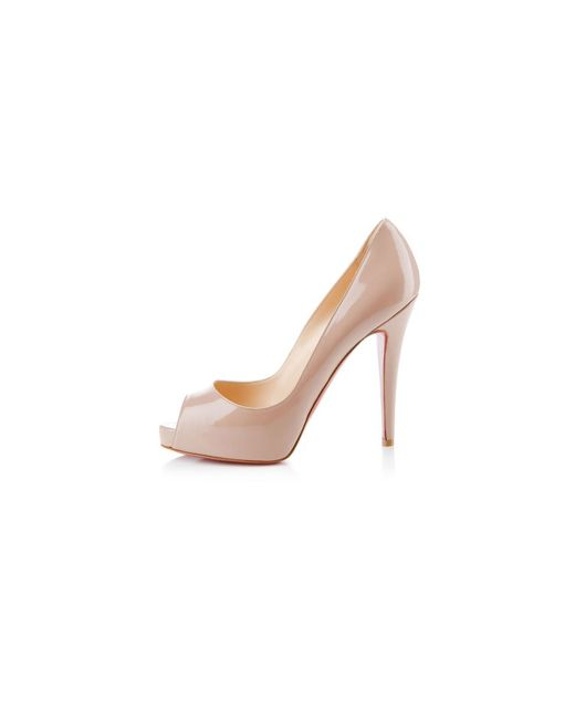 christian louboutin man shoes - Christian louboutin Very Prive Patent Leather Platform Pumps in ...