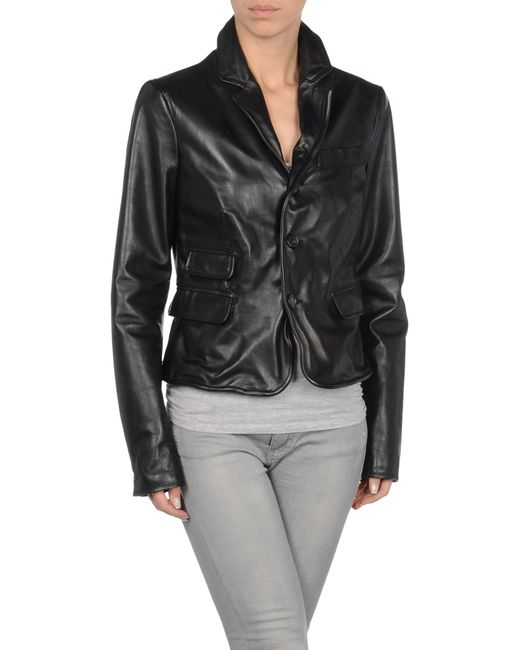 DSquared² | Black Leather Outerwear | Lyst