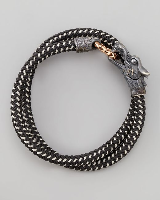 John Hardy | Black Naga Nylon Cord Wrap Bracelet for Men | Lyst