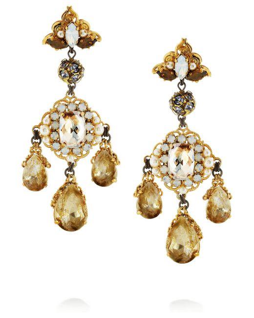 Erickson Beamon | White Alyssa Earrings | Lyst