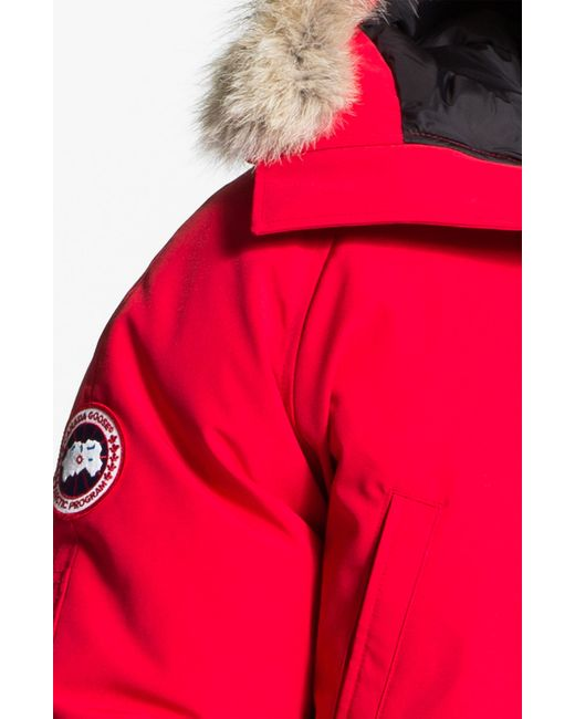 Canada Goose parka online discounts - Canada goose Chateau Coyote-Trimmed Down-Filled Parka in Red for ...