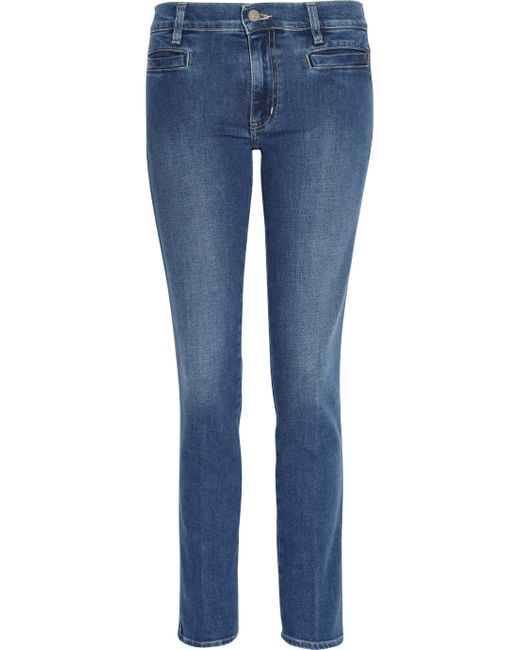 M.i.h Jeans | Blue Paris Cropped Midrise Skinny Jeans | Lyst