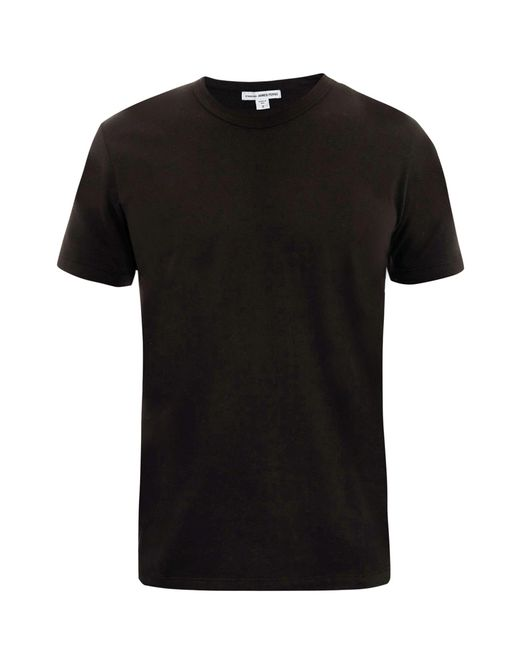 James perse v neck t shirt in black for men save 40 lyst for James perse t shirts sale