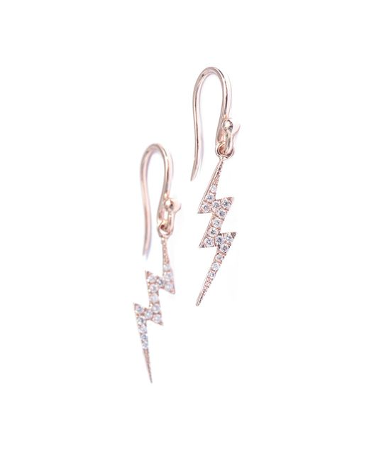 Diane Kordas | Metallic Diamond and Gold Lightning Bolt Earrings | Lyst