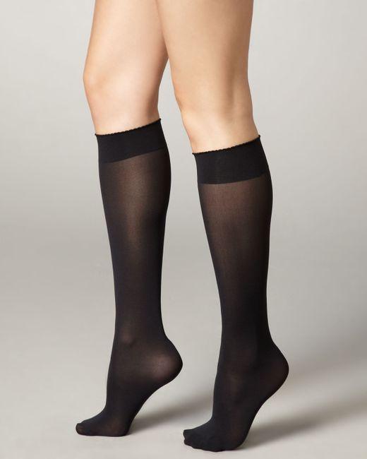 Wolford | Black Velvet De Luxe 50 Denier Knee-high Socks | Lyst