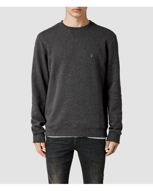 AllSaints | Gray Wilde Crew Sweatshirt for Men | Lyst