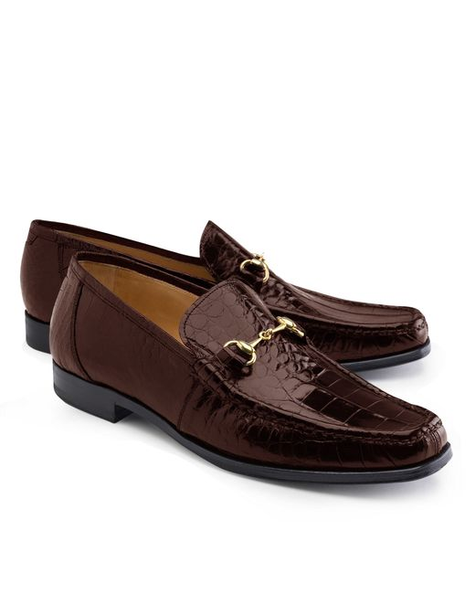 Brooks Brothers | Brown Genuine American Alligator Classic Bit Loafers for Men | Lyst