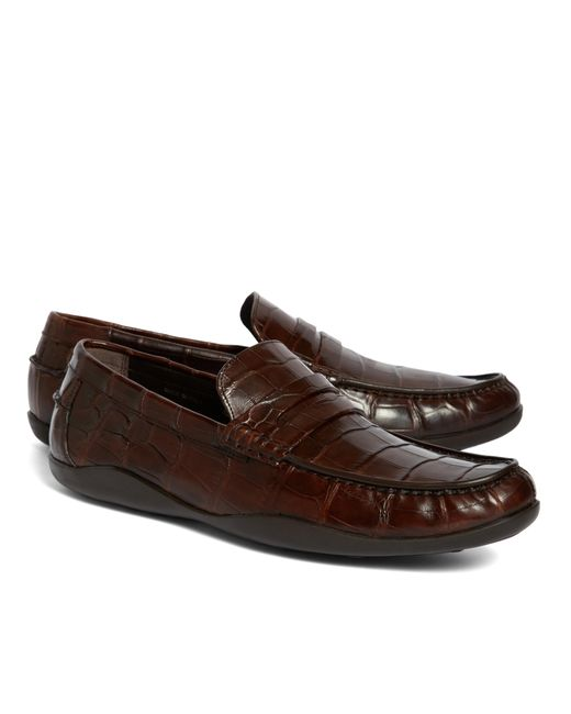 Brooks Brothers Men's Dress Shoes Sale Enhance your professional workwear or evening attire with versatile men's dress shoes in traditional black and brown leather styles. Shop Brooks Brothers penny loafers on sale to add a dash of elegance to special occasions or nights on the town.