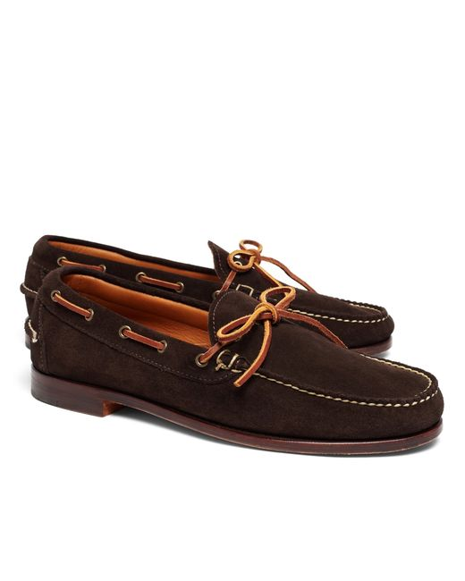 Brooks Brothers | Brown Rancourt & Co. Gentleman's Moccasins for Men | Lyst