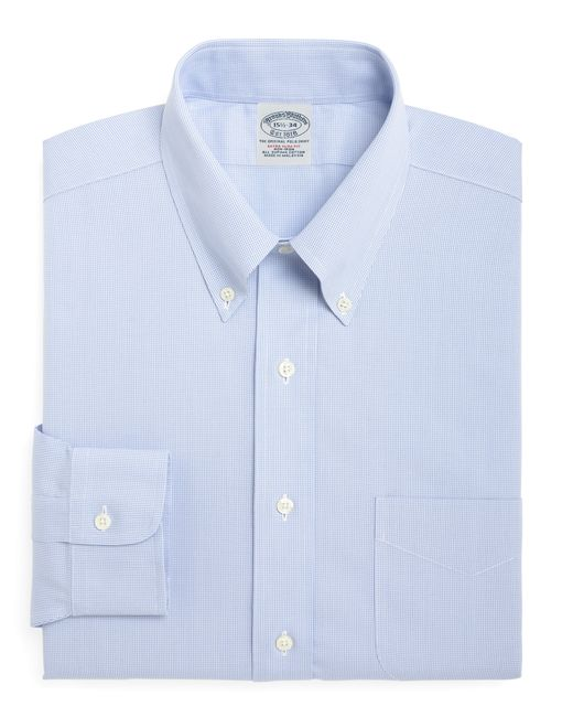 Brooks Brothers   Blue Non-iron Milano Fit Houndstooth Dress Shirt for Men   Lyst