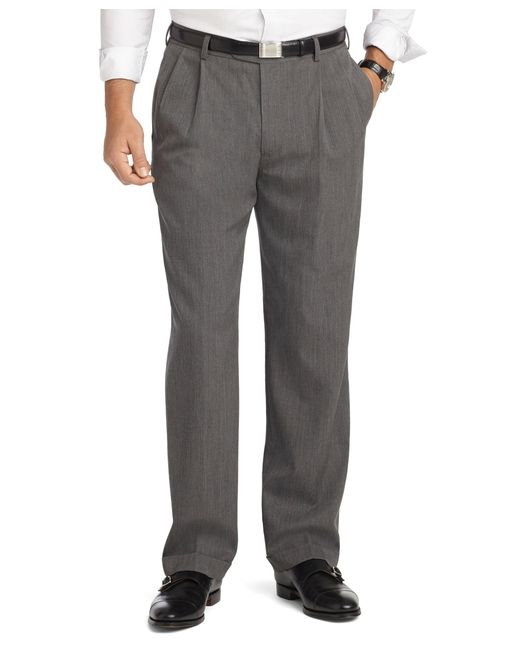 Brooks Brothers | Gray Madison Fit Pleat-front Unfinished Gabardine Trousers for Men | Lyst