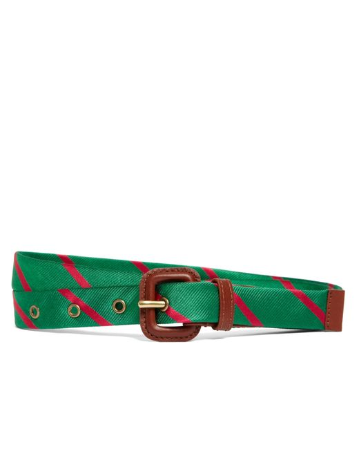 Brooks Brothers | Green Silk Tie Stripe Belt | Lyst