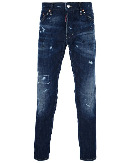 DSquared² | Blue Distressed Jeans for Men | Lyst