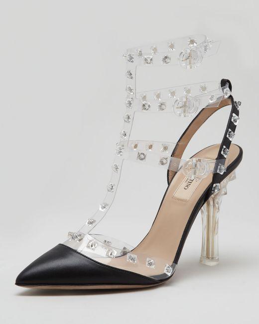 Valentino | Black 65mm Rockstud Patent Leather Pumps | Lyst