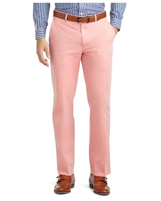 Brooks Brothers | Red Fitzgerald Fit Plain-front Cotton Dress Chinos for Men | Lyst