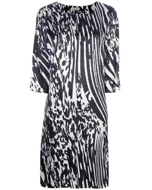 By Malene Birger | White Nonac Printed Silk-satin Dress | Lyst