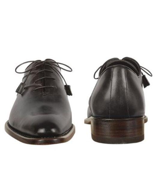 forzieri black italian handcrafted leather oxford dress