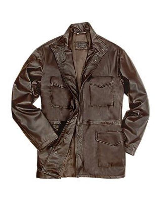 FORZIERI | Men's Dark Brown Italian Four-pocket Leather Jacket for Men | Lyst