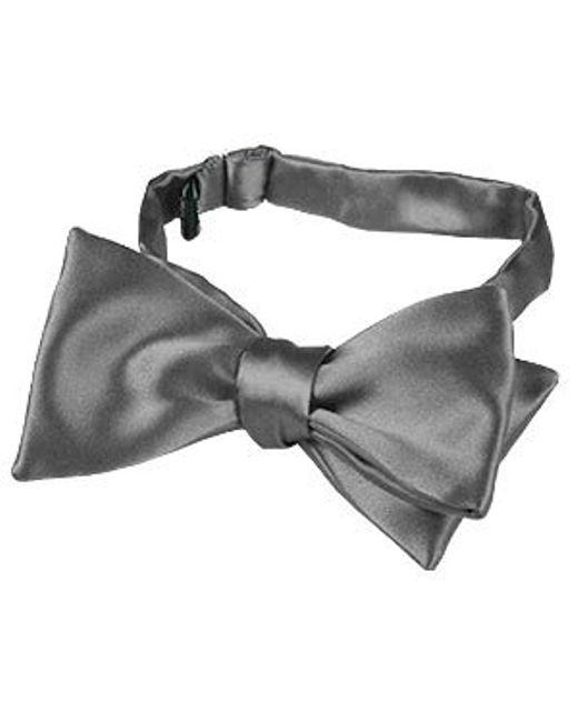FORZIERI | Dark Gray Solid Silk Self-tie Bowtie for Men | Lyst