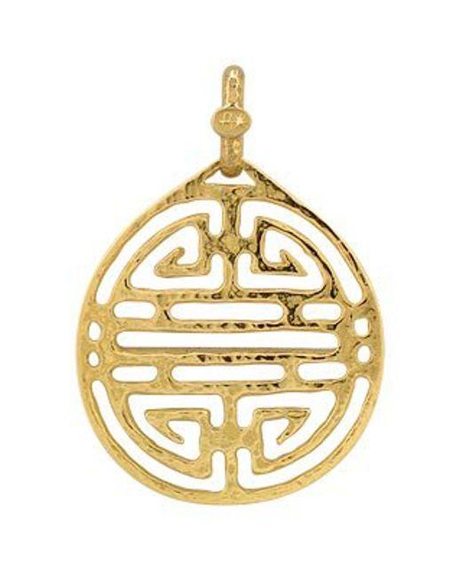 Torrini | Chinese Labyrinth - 18k Yellow Gold Pendant | Lyst