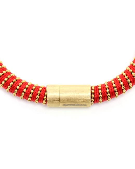 Carolina Bucci | Red Twisted 18K Gold-Plated Sterling Silver Bracelet | Lyst
