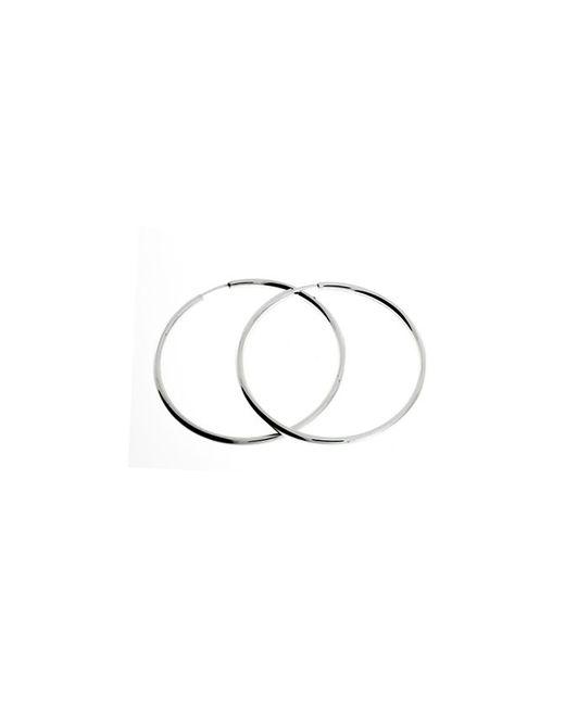 Azendi | Metallic Sterling Silver Hoop Earring 4cm | Lyst