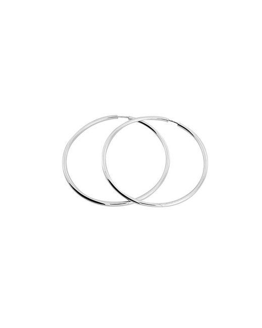 Azendi | Metallic Sterling Silver Hoop Earring 5cm | Lyst