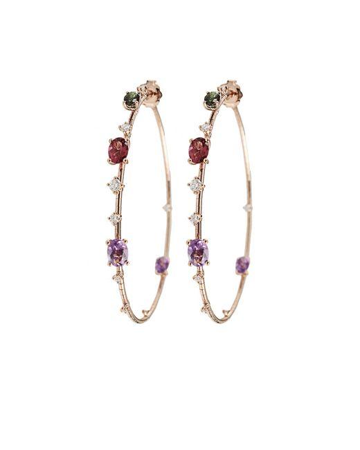 Mattia Cielo   Pink Rugiada Rainbow Hoop Earrings   Lyst