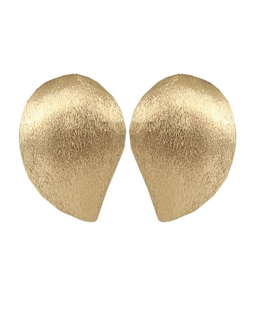 Yvel | Metallic Large Handmade 18k Yellow Gold Earrings | Lyst