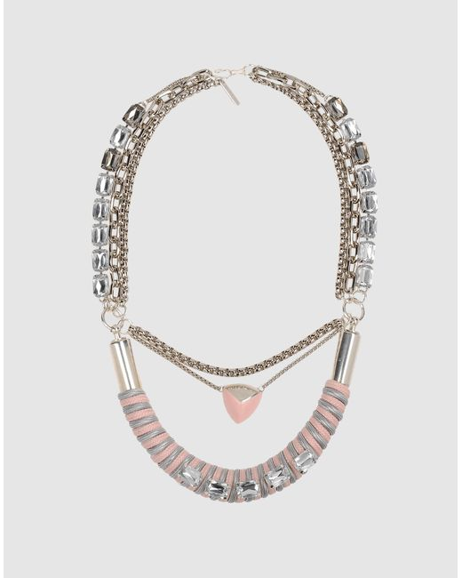 Moutoncollet | Pink Necklace | Lyst