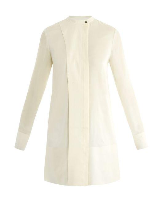 T By Alexander Wang   Black Silk-Chiffon Shirt   Lyst