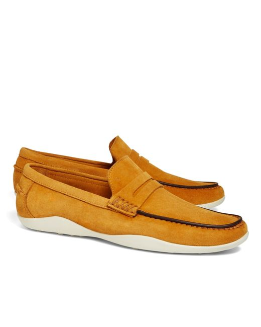 Brooks Brothers | Yellow Harrys Of London® Basel Penny Loafers for Men | Lyst
