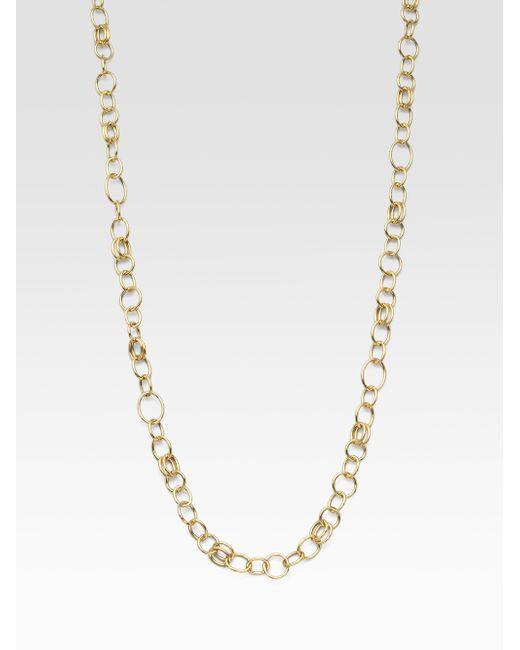 Ippolita | Metallic Glamazon Sculptural Metal 18k Yellow Gold Classic Layer Chain Necklace | Lyst