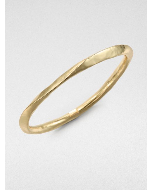 Ippolita | Metallic Glamazon 18k Yellow Gold Wide Bangle Bracelet | Lyst