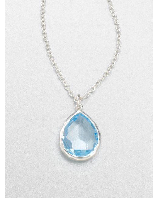 Ippolita | Rock Candy Blue Topaz & Sterling Silver Mini Teadrop Pendant Necklace | Lyst