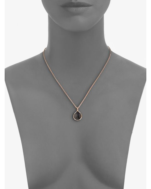 Ippolita | Pink Rose Rock Candy Smoky Quartz Medium Teardrop Pendant Necklace | Lyst