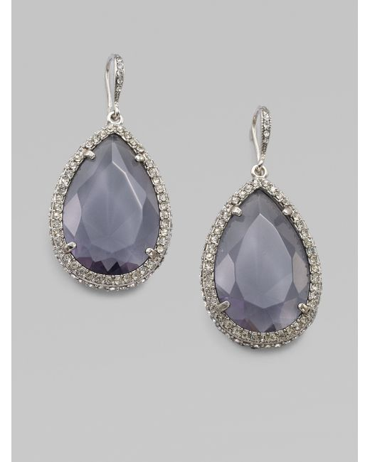 ABS By Allen Schwartz | Metallic Faceted Teardrop Earrings | Lyst