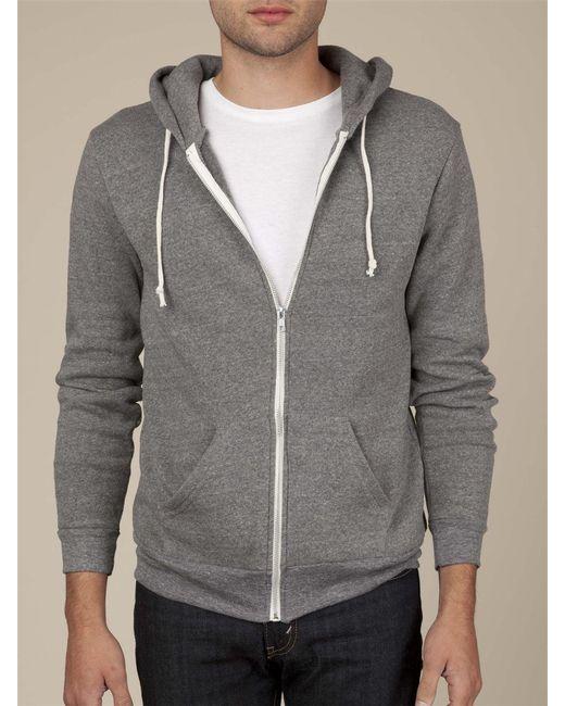 Alternative Apparel | Gray Eco Vertigrain Anorak Hoodie for Men | Lyst
