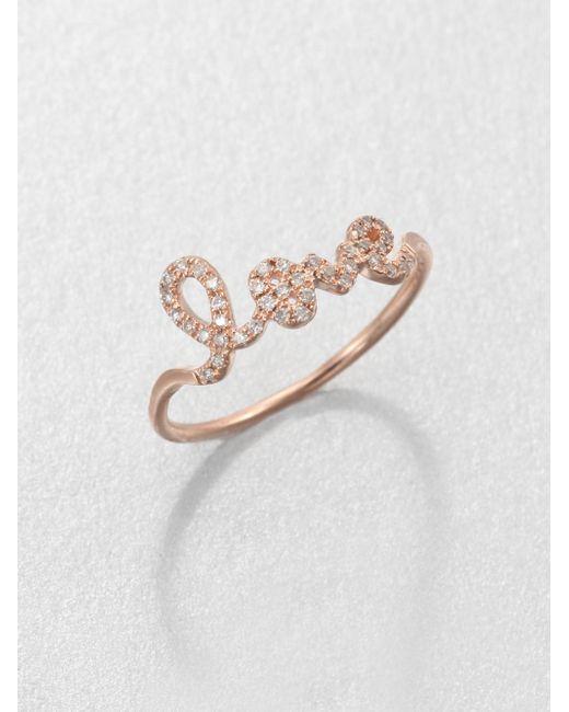 Sydney Evan   Pink Diamond & 14k Rose Gold Love Ring   Lyst
