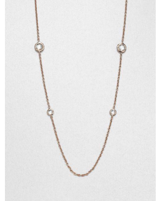 Ippolita | Metallic Rose Rock Candy Clear Quartz Graduated Lollipop Station Necklace | Lyst