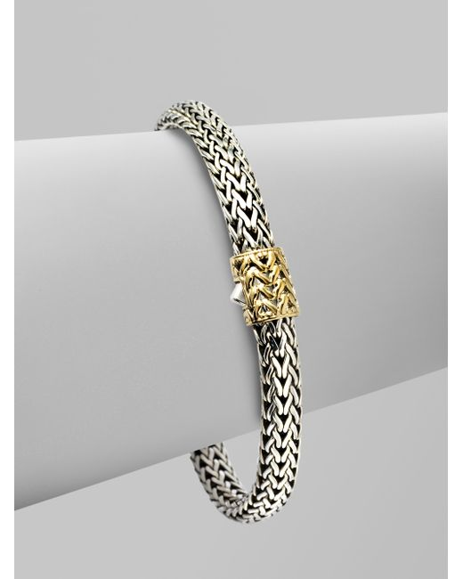 John Hardy | Metallic 18k Gold Accented Sterling Silver Chain Bracelet | Lyst