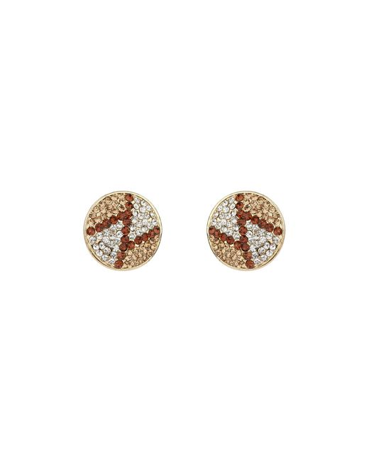 Mikey | Brown Round Z Earrings | Lyst