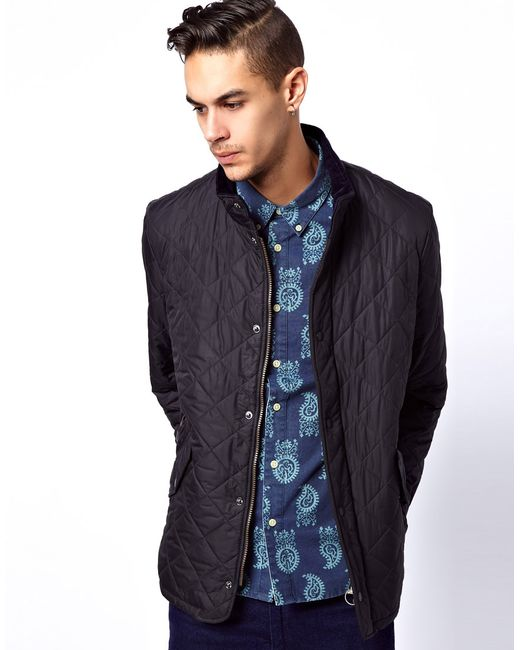 Barbour Chelsea Sports Quilt Jacket In Black For Men Lyst