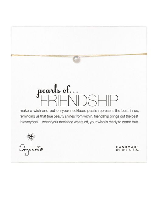 Dogeared | Metallic Pearls Of Friendship On Gold Silk Thread Necklace - Gold | Lyst