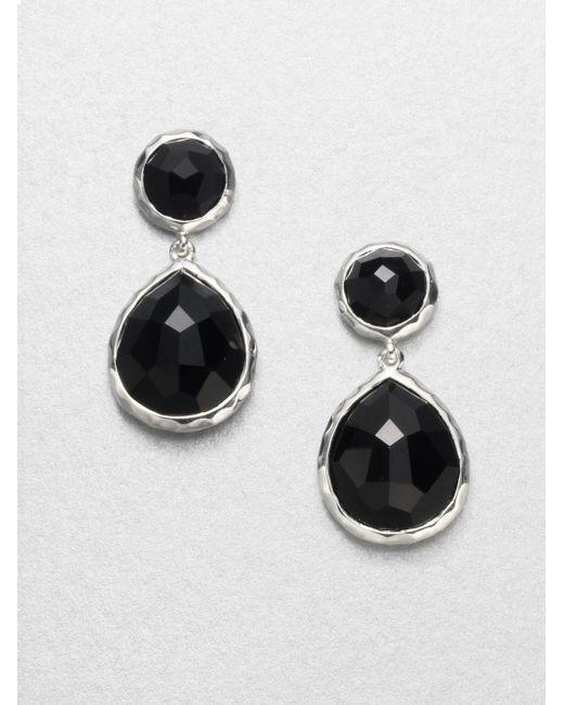 Ippolita | Black Onyx Sterling Silver Snowman Drop Earrings | Lyst