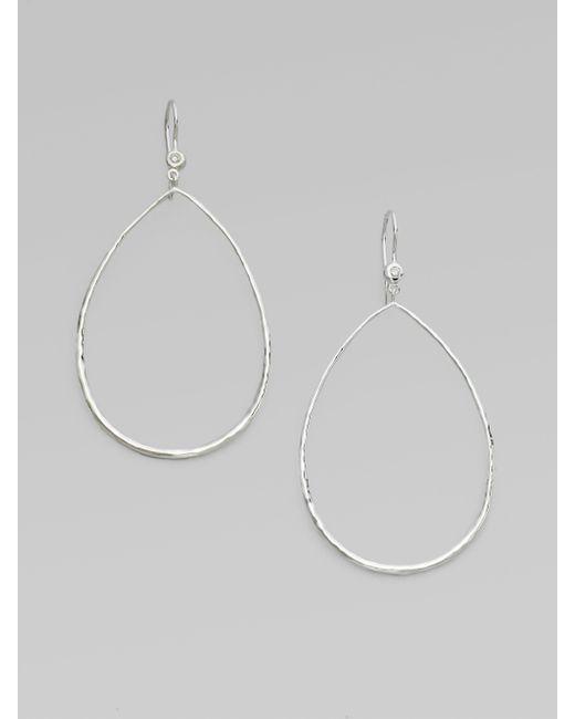 Ippolita | Metallic Stella Diamond & Sterling Silver Open Teardrop Earrings | Lyst