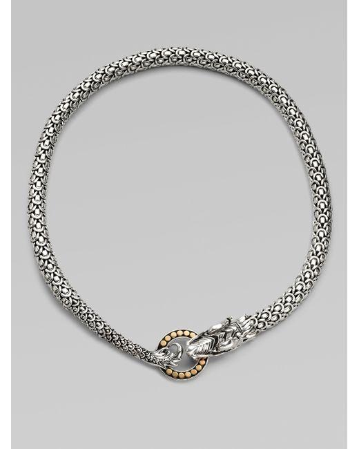 John Hardy | Metallic Naga 18k Yellow Gold & Sterling Silver Dragon Necklace | Lyst